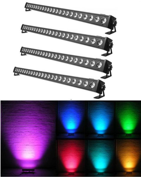 4vnt LED BAR 24x3W RGB