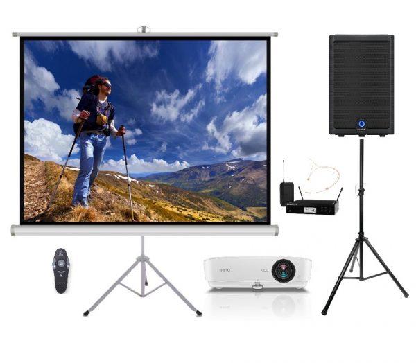 Projektoriaus ir garso komplektas prezentacijoms