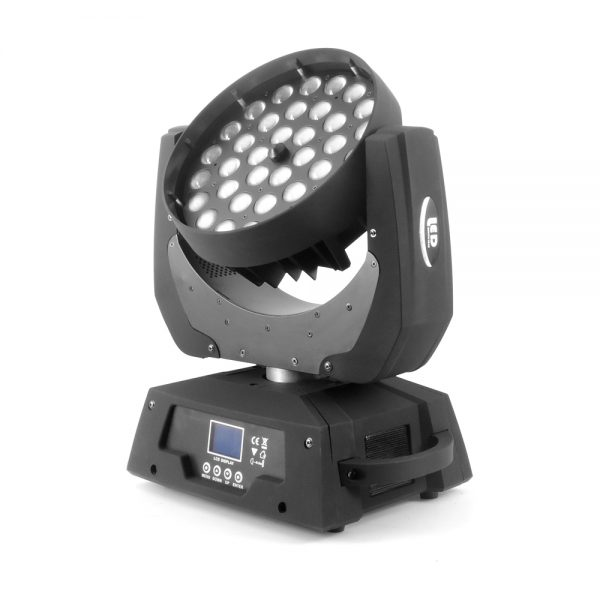 LED judanti galva 36x10W ZOOM RGBW